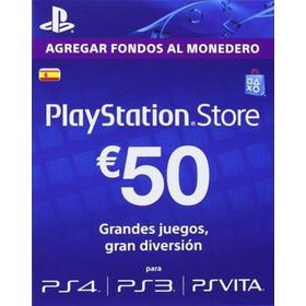 Tarjeta Descarga Playstation Network 50€
